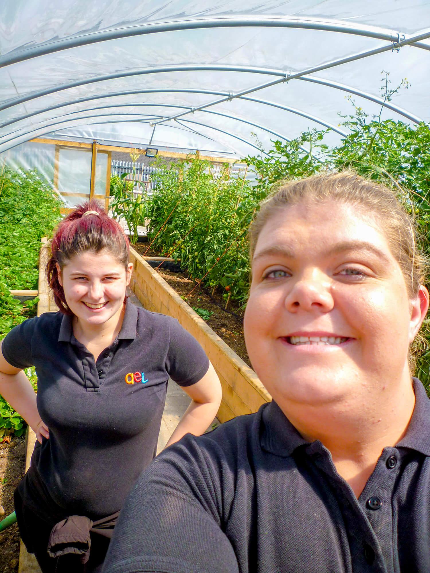 AEL Greenhouse Selfie